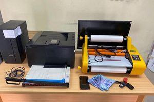 Phá đường dây sản xuất, lưu hành tiền giả mệnh giá 500.000 đồng: Tự in bằng máy in màu và ép nilon