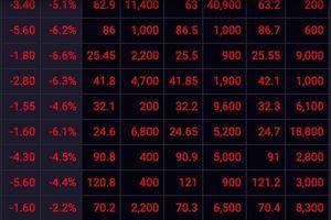 Sắc đỏ bao trùm, đạp nhau tháo chạy, thị trường còn sóng?