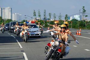 Phân luồng giao thông từ xa, phục vụ Đại hội Đảng