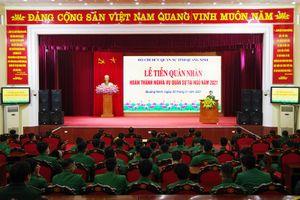 Lễ tiễn và đón nhận quân nhân hoàn thành NVQS năm 2021