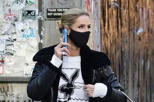 Em gái Paris Hilton diện đồ hiệu sang chảnh ra phố trong tiết trời giá lạnh