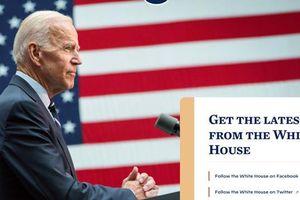 'Thông điệp bí mật' trên trang web Nhà Trắng sau khi ông Joe Biden nhậm chức Tổng thống Mỹ