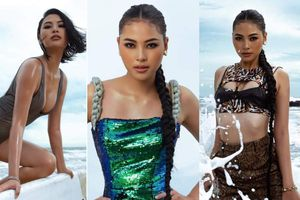 Người đẹp Biển Đào Thị Hà mặc áo tắm nóng bỏng, khoe body cực 'gắt' trên biển