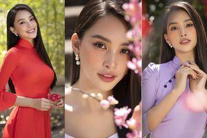 Hoa hậu Tiểu Vy khoe nhan sắc 'cực phẩm', đẹp tựa nàng thơ mùa xuân với áo dài Tết