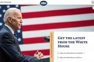Xuất hiện thông điệp ẩn trên trang web Nhà Trắng sau khi ông Joe Biden nhậm chức tổng thống Mỹ
