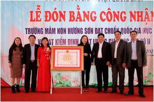 Hà Giang: Trường mầm non Hương Sơn (Quang Bình) xây dựng trường đạt chuẩn quốc gia ở vùng đặc biệt khó khăn