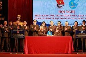 Tuổi trẻ lực lượng Cảnh vệ tham gia bảo vệ Đại hội Đảng