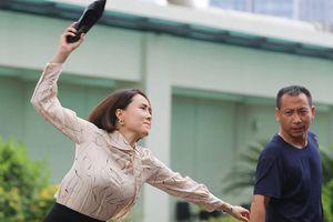 Hậu trường 'Hướng dương ngược nắng': Hồng Diễm tháo guốc, dọa ném Hồng Đăng