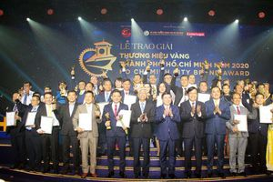 30 doanh nghiệp nhận giải thưởng Thương hiệu vàng thành phố Hồ Chí Minh