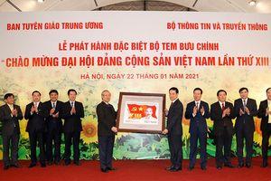 Phát hành đặc biệt bộ tem 'Chào mừng Đại hội Đảng Cộng sản Việt Nam lần thứ XIII'