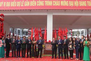 Quận Bắc Từ Liêm gắn biển 3 công trình chào mừng Đại hội Đảng