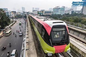 Cận cảnh đoàn tàu đầu tiên của tuyến Nhổn - Ga Hà Nội 'bất ngờ' lăn bánh trên cao