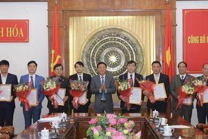 Thường trực Tỉnh ủy Thanh Hóa công bố nhiều vị trí cán bộ mới