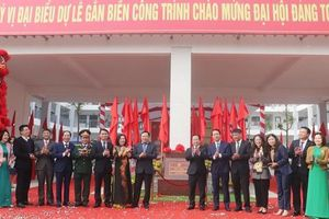 Gắn biển 3 công trình chào mừng Đại hội Đảng toàn quốc lần thứ XIII