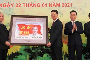 Phát hành bộ tem chào mừng Đại hội Đảng lần thứ XIII