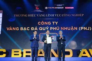 PNJ được vinh danh hiệu Thương hiệu vàng