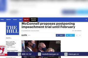 Phe Cộng hòa muốn hoãn luận tội cựu Tổng thống Trump