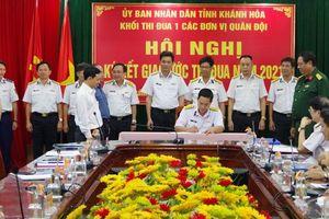 Khối thi đua 1 các đơn vị quân đội đóng quân trên địa bàn tỉnh ký kết giao ước thi đua năm 2021