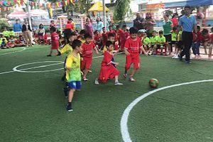 Gần 550 bé tham gia Hội khỏe Măng non cấp trường