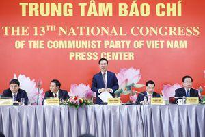 Khai mạc Trung tâm Báo chí, tổ chức họp báo trước thềm khai mạc Đại hội XIII của Đảng