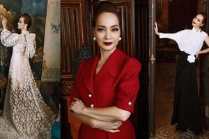 Phong cách thời trang đầy quyền lực của NSND Lê Khanh dưới bàn tay của NTK Đỗ Mạnh Cường
