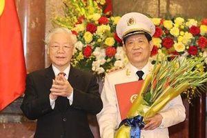 Thứ trưởng Bộ Công an Nguyễn Văn Sơn được thăng quân hàm Thượng tướng