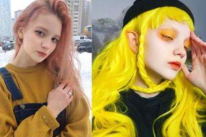 'Hoa mắt' với màu tóc nhuộm thay đổi hàng tuần của người mẫu Nga