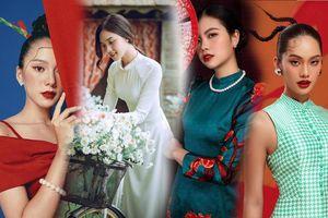 Dàn người đẹp Hoa hậu Việt Nam 2020 diện áo dài đẹp 'bất phân thắng bại'