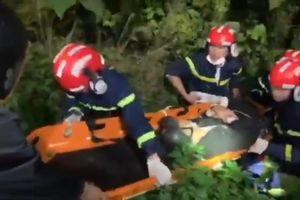 Đi xe tay ga lên bán đảo Sơn Trà, nam thanh niên gặp nạn văng xuống vực sâu