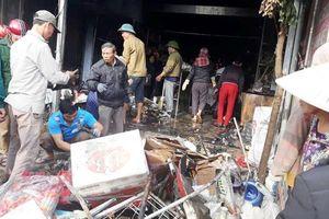 Cháy cửa hàng tạp hóa ở Nghệ An, thiệt hại hàng trăm triệu đồng