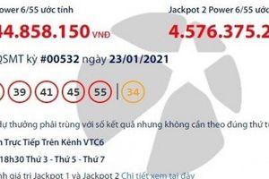Xổ số Vietlott 23/1/2021: Tìm người may mắn trúng giải khủng gần 43 tỷ đồng