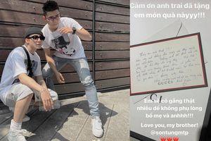 Giữa ồn ào 'trà xanh', Sơn Tùng tặng quà sinh nhật em trai kèm lời nhắn nhủ dễ thương