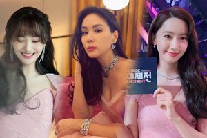 Vợ Jang Dong Gun diện váy 100 triệu khoe body nóng bỏng ở tuổi 48: Đụng hàng Trịnh Sảng và Yoona (SNSD)!