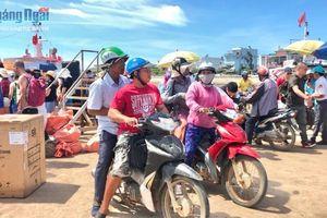 Tăng cường các biện pháp đảm bảo việc đón trả khách trong dịp Tết tại Cảng Lý Sơn