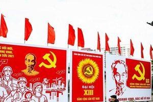 Hà Nội ngập sắc cờ hoa chào mừng Đại hội Đảng lần thứ XIII