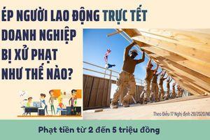Ép người lao động trực Tết, doanh nghiệp bị xử phạt đến 25 triệu đồng