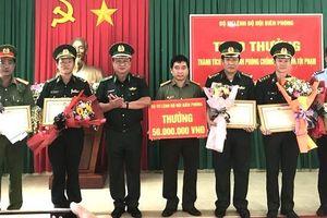 BĐBP trao thưởng các đơn vị phá 3 chuyên án ma túy, buôn lậu lớn