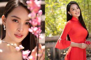 Hoa hậu Tiểu Vy đẹp 'gây mê' trong tà áo dài Tết