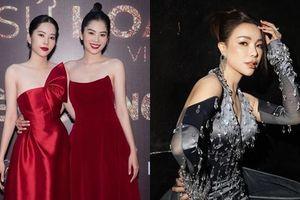 Nam Anh - Nam Em diện váy đỏ rực đối lập Trà Ngọc Hằng đầm đen huyền bí