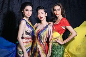 Hương Giang, Võ Hoàng Yến và Xuân Lan rực rỡ với váy cầu vồng
