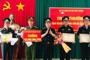 Bộ Tư lệnh BĐBP: Trao thưởng thành tích đấu tranh phòng, chống ma túy và tội phạm