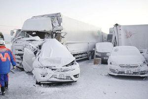 Hơn 130 xe đâm liên hoàn trong bão tuyết ở Nhật Bản