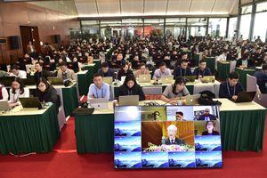 Chùm ảnh: Báo chí tác nghiệp tại Đại hội Đảng lần thứ XIII