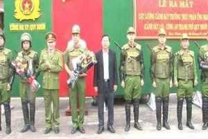 Ra mắt lực lượng Cảnh sát phản ứng nhanh CATP Quy Nhơn