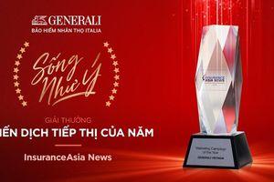 'Sống Như Ý' của Generali Việt Nam nhận giải 'Chiến dịch Tiếp thị của Năm'
