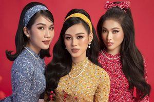 Diện áo dài Tết theo phong cách xưa, Top 3 HHVN 2020 đẹp như minh tinh thập niên 50