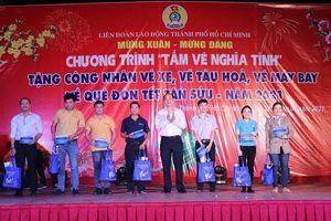 TP Hồ Chí Minh trao 800 'Tấm vé nghĩa tình' cho công nhân khó khăn về quê đón Tết