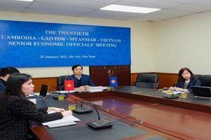 Hội nghị Quan chức kinh tế cấp cao Campuchia – Lào – Myanma – Việt Nam thảo luận kế hoạch hành động CLMV 2021-2022