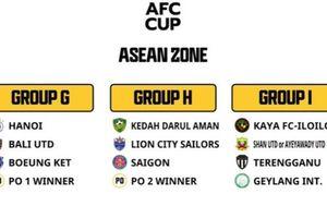 Bốc thăm Cúp bóng đá châu Á 2021: Hà Nội và Sài Gòn FC 'dễ thở'