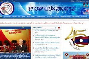 Truyền thông Lào đưa tin đậm nét về Đại hội XIII của Đảng Cộng sản Việt Nam
